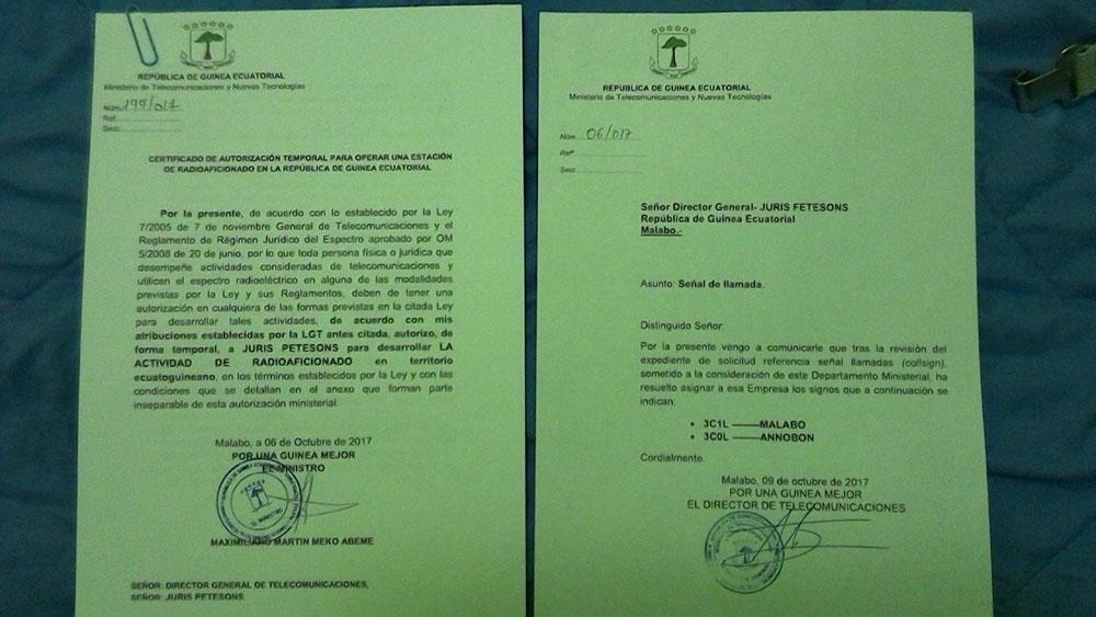 3C1L, 3C0L - Amateur Radio DX-pedition to Equatorial Guinea and ...